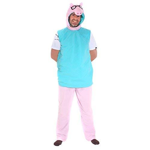 Papa Wutz Peppa Wutz Kostüm Erwachsene Herren (Peppa The Pig Kostüm)