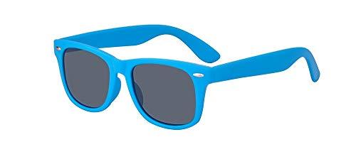 ALWAYSUV Kinder Bequem Polarisierte Sonnenbrillen für Jungen und Mädchen Alter 3-10 Brillenfassung Blau