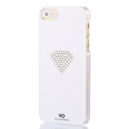 Elizabeth taylor white diamonds–cover con cristalli swarovski per iphone 4/4s–blu–parent asin