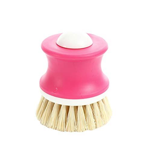 TOPBATHY Cepillo para lavar platos de palma de coco natural para cocina o restaurante (color al azar)