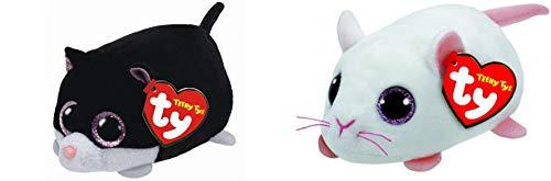 NEU Teeny Ty Cat & Mouse 2er-Set, Komplettieren Sie Ihr Set!