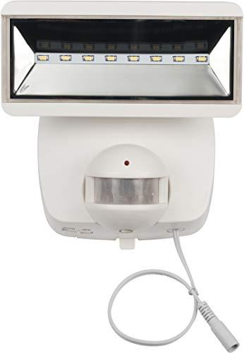 Brennenstuhl Solar LED-Strahler SOL 800 / LED-Strahler für außen mit Bewegungsmelder und Solar-Panel (IP44, inkl. Akku, LG SMD-LEDs, 400lm) weiß