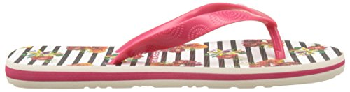 Desigual Flores and Rayas, Flip Flop Donna Bianco (white 1000)