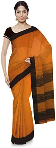 Women's Khadi Cotton Saree With Blouse Piece (BD 27_Yel