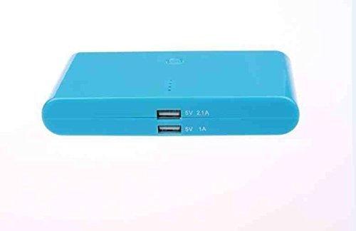 Deet 20000mAh Kompakt Tragbarer Akku Power Bank USB Ladegerät mit IQ-Technologie für iPhone 6S, iPad Air, Samsung Galaxy S6, MP3-Player, Digitale Kamera, SAT NAV [blau] -