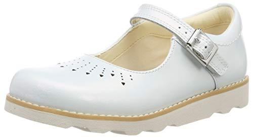 Clarks Mädchen Crown Jump K Geschlossene Sandalen, Weiß (White Interest), 33 EU -