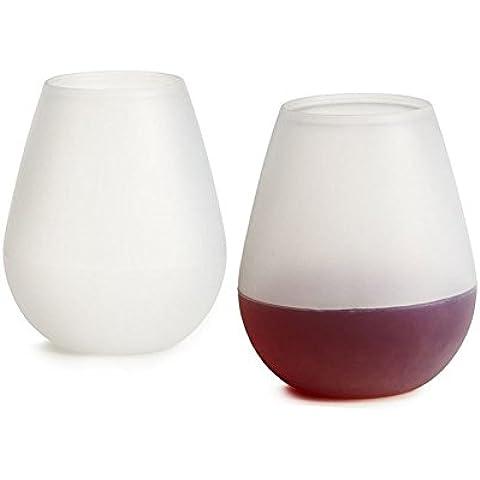 Silicone-bicchieri da vino pieghevole in silicone occhiali Birra Tazza Bicchiere beccuccio recipienti per campeggio 4 bianco