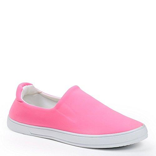 Ideal Shoes–slip-on Neopren Kaina Pink - Fuchsia