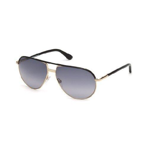 Tom Ford Herren FT0285 01B 61 Sonnenbrille, Schwarz (Nero Lucido/Fumo Grad),