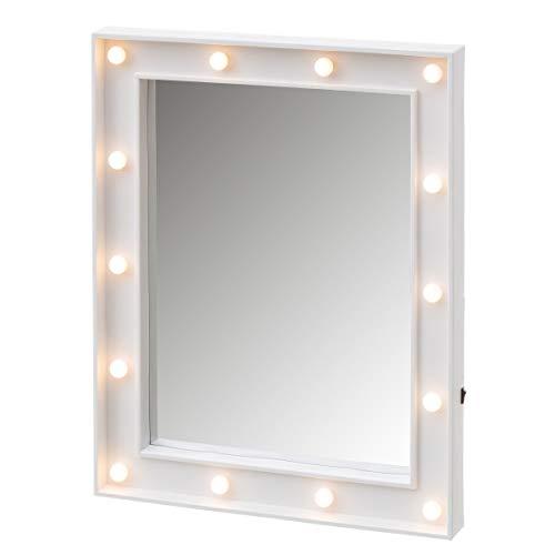 Espejo de Luces led Blanco Vintage para Dormitorio de 39 x 49 cm Vitta - LOLAhome