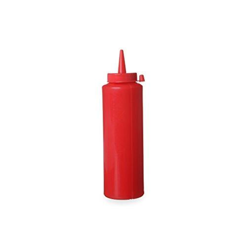 Hendi 558010 Spenderflasche für Saucen, 0,20 L, Polypropylen, Rot