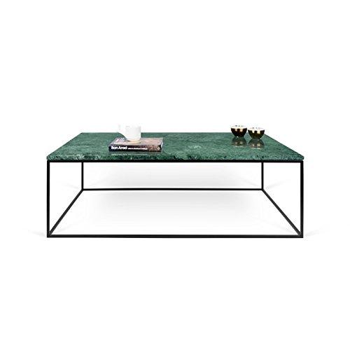 Paris Prix - Temahome - Table Basse Gleam 120cm Marbre Vert & Métal Noir