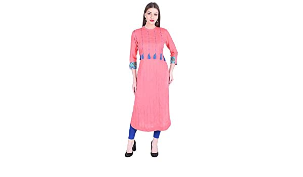 Vetements T Shirts A Manches Longues Vihaan Impex Robe Indienne Tunique Femme Kurti Viku8035