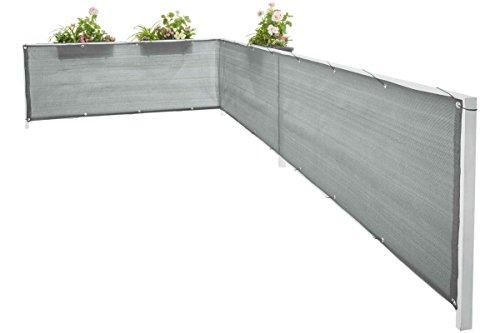Florabest Sichtschutz Witterungsbeständig Balkonsichtschutz Anthrazit 6 x 0,75m