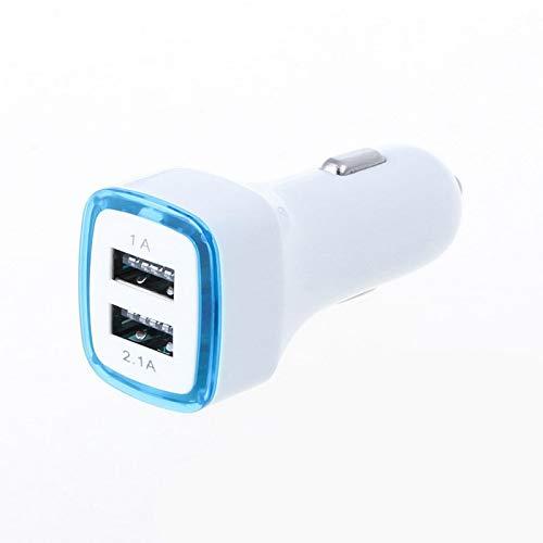 doppio adattatore led presa accendisigari usb per wiko view 3 lite smartphone doppio 2 porte auto caricatore universale (blu)