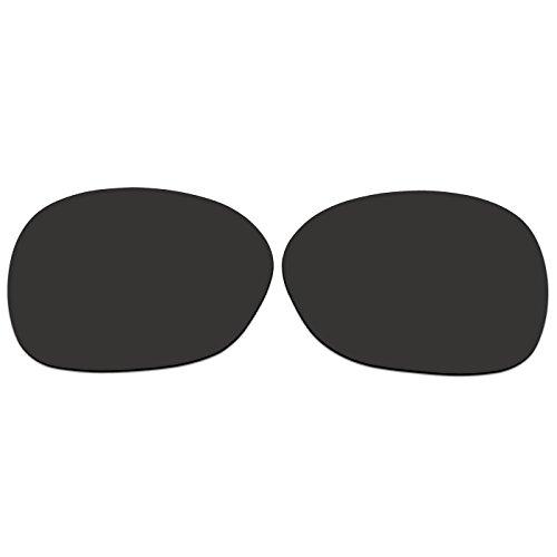 ACOMPATIBLE Ersatzgläser für Oakley Pulse Sonnenbrille oo9198, Black - Polarized