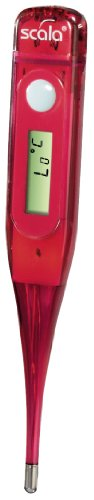 "Scala Digitales Fieberthermometer ""SC37T"", 100% wasserdicht, rot"
