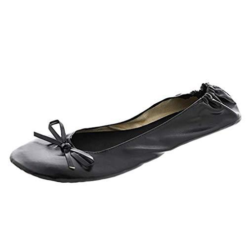 Scarpe da Balletto da Donna Vendita Pieghevole Portatile da Viaggio Balletto Piatto Roll Up Slipper Pack Up Set Scarpe per Donna/Ragazza di Kinlene