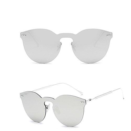 SIMPLEWORD Damen Sonnenbrille Cat Eye Shades Luxus Designer Sonnenbrille integrierte Brillen Candy Farbe UV400