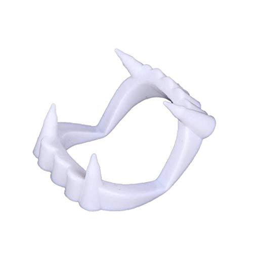 Bianche Zanne Vampiro, Denti di Plastica, Accessori Costume di Favori Halloween Party