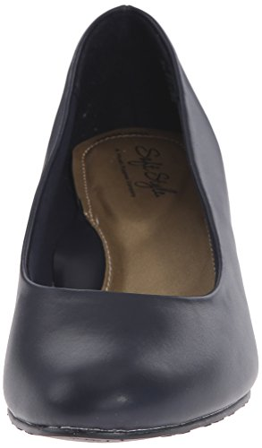 Hush Puppies Soft Style Womens Gail Dress Pump navy leather