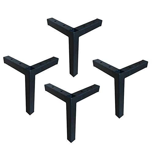 LING AI DA Mai Möbelfüße Europäisches Fußsofa - Fuß Kaffeetisch Beine Stützen Schrank Füße Möbel TV Verdickung Schmiedeeisen schwarz Hardware Stützfüße 16,5 cm, geeignet für Sofas, Fernseher, Schrän