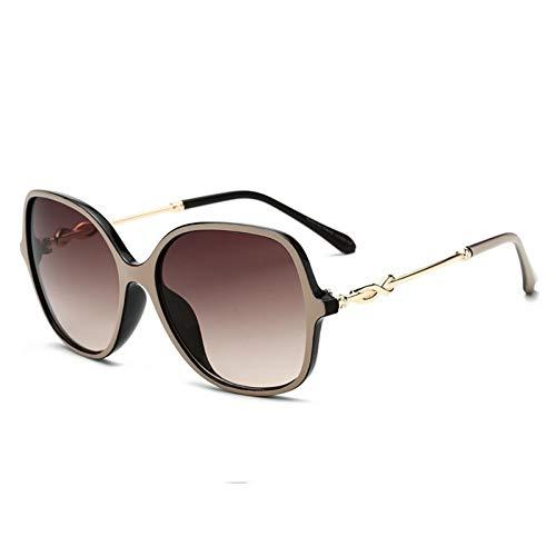 Taiyangcheng Polarisierte Sonnenbrille Übergroße Sonnenbrille Frauen Sonnenbrille mit Farbverlauf Großer Rahmen Acht-Zeichen-Knoten Beine Vintage Eyewear Uv400,C2