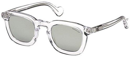 Moncler Unisex-Erwachsene ML0006 27C 50 Sonnenbrille, Transparent (Cristalllo),