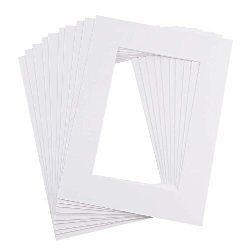 Ray & Chow Weiß Passepartouts - 10 Stück - 1 mm Stark- Standard-Größen (AM: A4/IA: 15 x 20)