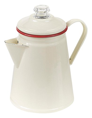 Victor Enamel Coffee Percolator with Rim, Red 31 sGgAVURL