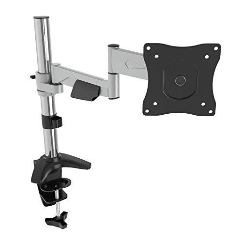 RICOO Monitor Tischhalterung für Monitore Monitorhalterung TS5211 Aluminium Universal Monitorständer Schwenkbar Neigbar Höhenverstellbar Bildschirmständer Tisch Ständer VESA 75x75 100x100 / Silber 71 Universal Flat Wall Mount