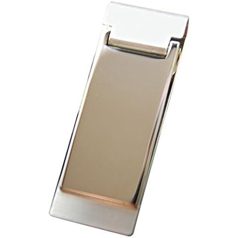 DEHANG Silver Minimalist Slim Money Clip Wallet