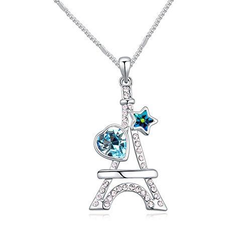 Mayanyan Classic-Eiffelturm österreichischen Kristall Halskette Dame Geschenk (Eiffelturm Kristall)