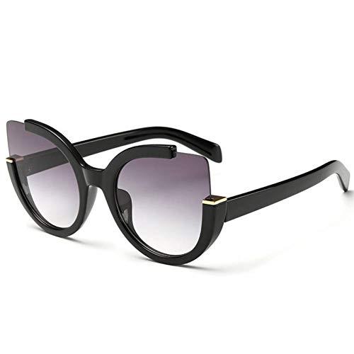 TJJQT Sonnenbrillen Cat Eye Sonnenbrille Für Frauen Übergroße Damen Cateyes Sonnenbrille Frauen Markendesigner Brille