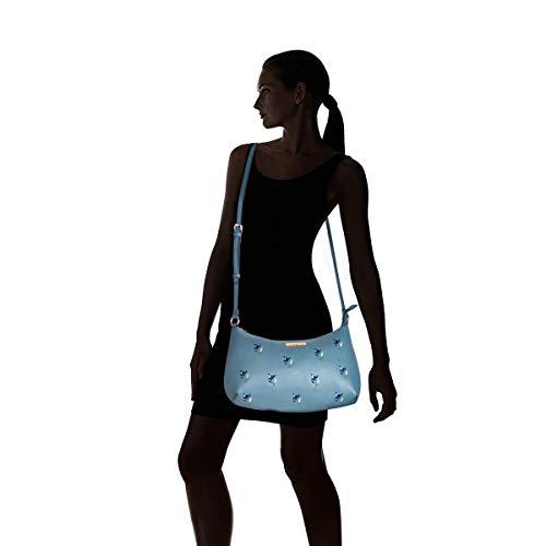 Caprese Blossom Women's Sling Bag (Dull Blue)