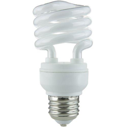Kompaktleuchtstofflampe Sylvania Glühbirne (Sunlite sms13/65K sms13/65K 13-watt Super Mini Spirale Energiesparend Medium Basis CFL Glühbirne, Tageslicht)