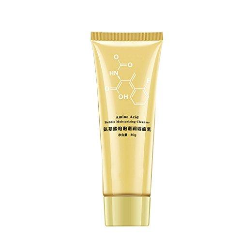Providethebest Aminosäure-Blase Feuchtigkeitsspendende Gesicht Poren reinigen Cleanser Whitening Anti-Aging-Reinigungsmilch-Schaum