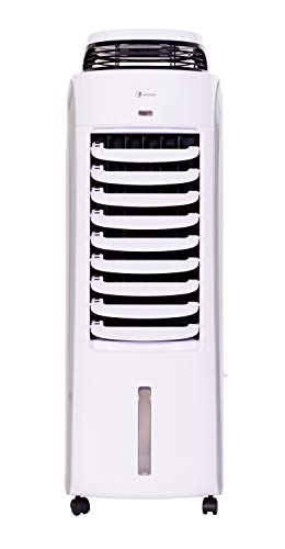 Haverland BaE | Refroidisseur d'Air Évaporatif Portable à Faible Consommation | jusqu'à 35 m² | Silencieux, 8 Fonctions, Volets oscillants | 120W | Capacité Réservoir d'Eau 13L.