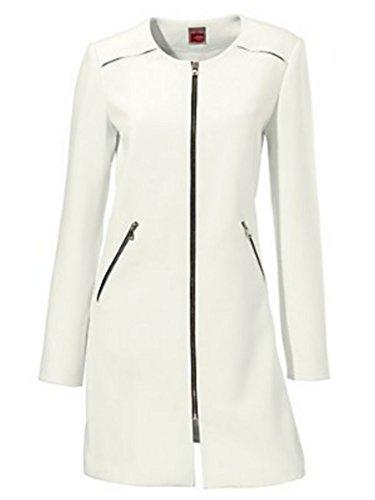 Kurzmantel Mantel Damen von Travel Couture in Ecru - Gr. 34