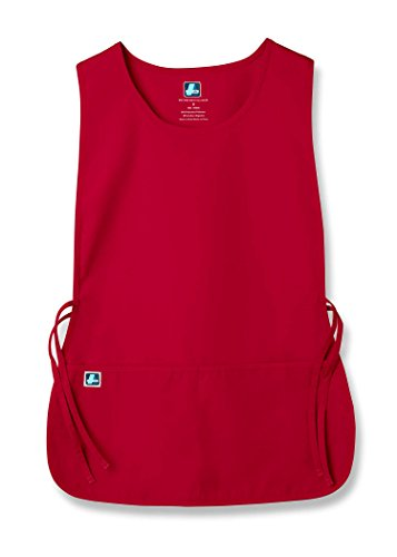 Pflege Kostüm - Adar Uniforms Unisex Arbeitsschürze mit Taschen für Schönheit und medizinische Berufe 702 Color RED   Talla: Regular