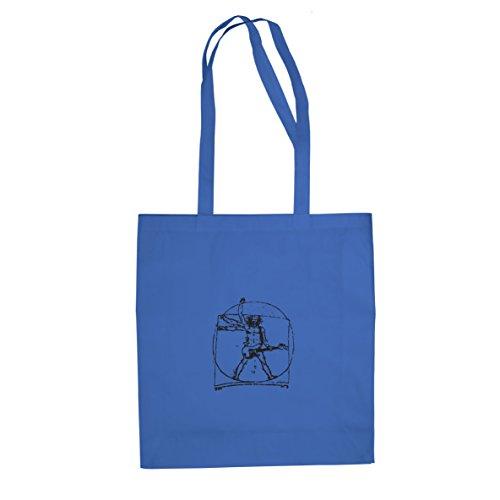 Da Vinci Rock - Stofftasche / Beutel Blau