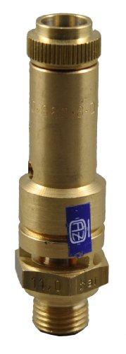 TÜV Sicherheitsventil Überdruckventil Kompressor 11 bar G 1/4 (Ventil Dichtung Kompressor)
