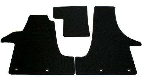Preisvergleich Produktbild Velours Passform Fußmatten Set, Schwarz für VW T5 Multivan + Caravelle