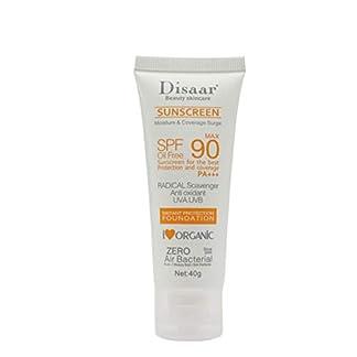 Yiitay Protector solar SPF 90, crema solar ultra hidratante, crema de protección solar para la cara, alta protección UVA, leche solar, resistente al agua, larga duración, hidratante, loción de 40 g