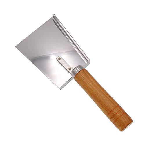 Honig-Schaufel, Bienenstock-Honig-Schaber mit Holzgriff, Edelstahl, der Honig-Gabel-Schaber-Schaufel-Imkerei-Werkzeug abdeckt -