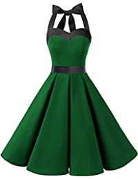 48c46eab22a1 Dresstells Neckholder Rockabilly 1950er Polka Dots Punkte Vintage Retro  Cocktailkleid Petticoat…