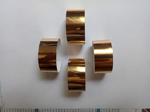 saxxdeluxe 20 Gold-Farbige Servietten-Ringe aus Metallisch glänzendem Papier
