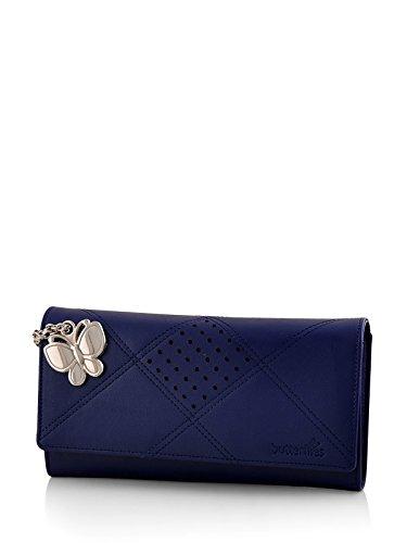 Butterflies Women's Wallet (Blue) (BNS 2385BL)