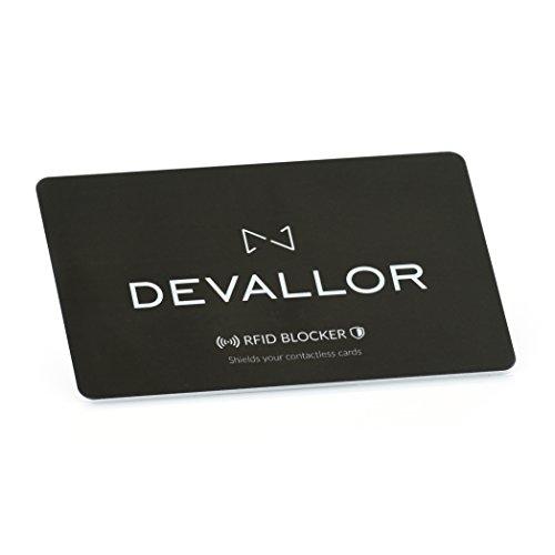 DEVALLOR® RFID Blocker, Sehr dünne NFC Schutzkarte, Störsender, 100{54f4739c584aa113c0931324901b258fd115bbb7cffd623af7ed0db8be6ab725} Schutz für Kreditkarte EC-Karte Bankkarte Ausweis Reisepass