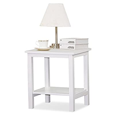 tinkertonk White Pine Bedside Side Table Small Display Stand, Side, Coffee Table - low-cost UK light shop.